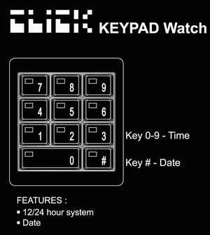 Tom Clancy's Splinter Cell Blacklist KeyPad Watch - Black
