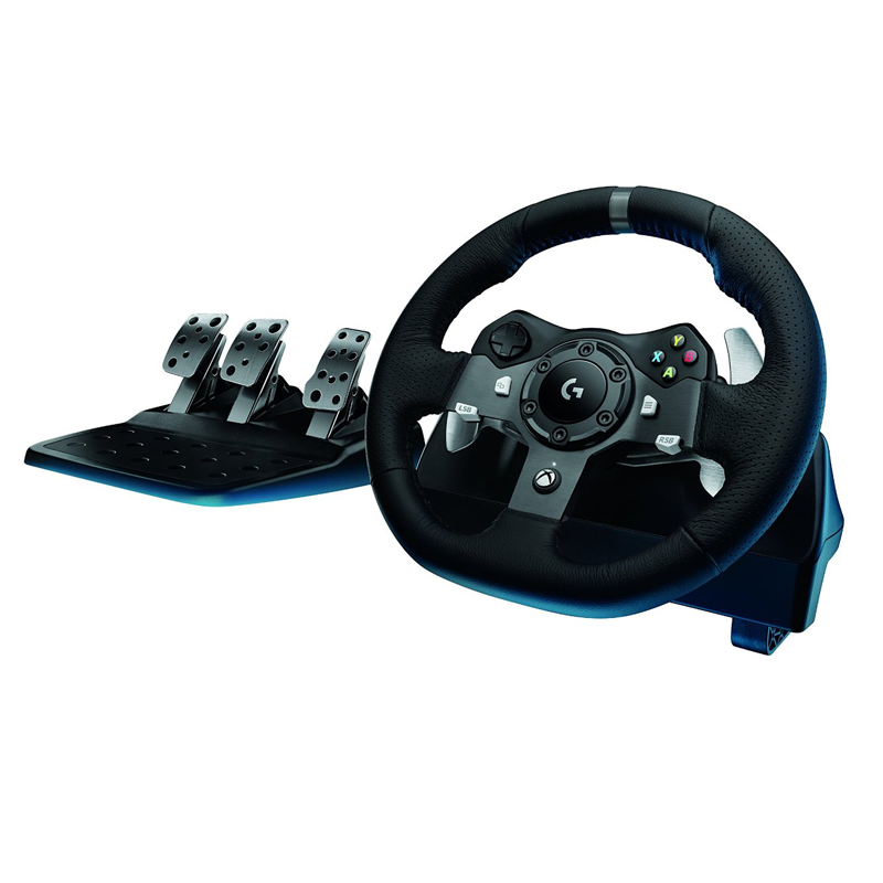 logitech g920 driving force racing wheel for xbox one. Black Bedroom Furniture Sets. Home Design Ideas