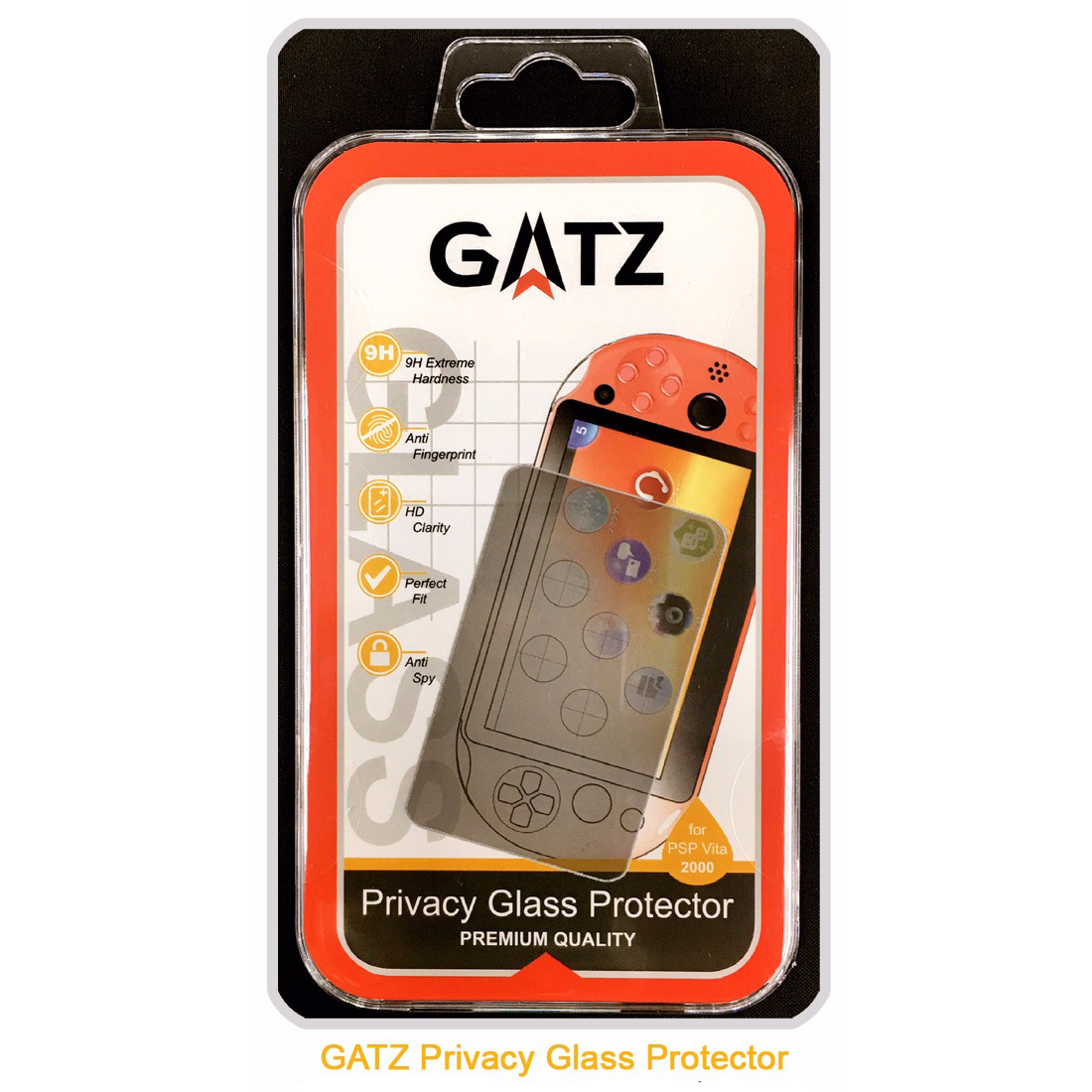 Gatz Premium Quality Privacy Tempered Glass Protector for PS Vita 2006 Series