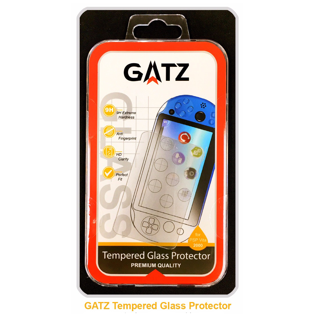 Gatz Premium Quality Tempered Glass Protector for PS Vita 2006 Series