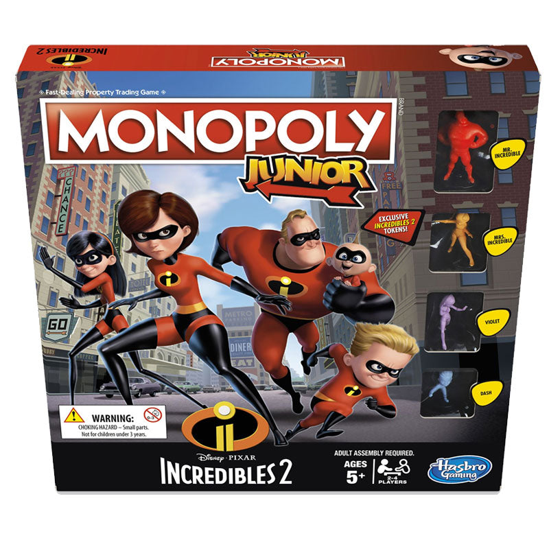 Monopoly Junior Game: Disney/Pixar Incredibles 2 Edition