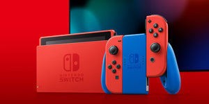 Nintendo Switch Gen 2 Mario Red & Blue Edition + 1 Year Local Warranty by Singapore Nintendo Distributor Maxsoft (Longer Battery Life)