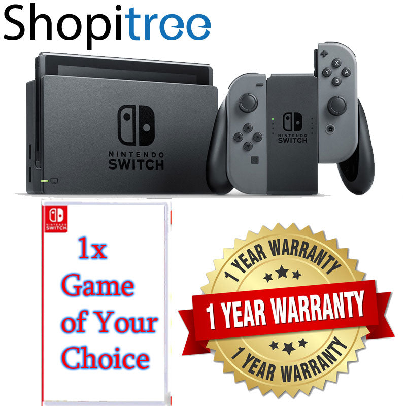 Nintendo Switch Grey Console + 1 Pre-selected Game + 1 Year Local Warranty