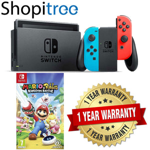 Nintendo Switch Neon Console + 1 Pre-selected Game + 1 Year Local Warranty
