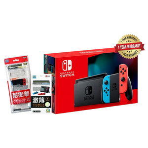 Nintendo Switch Gen 2 Console + 1 Year Local Warranty by Singapore Nintendo Distributor Maxsoft (Longer Battery Life)