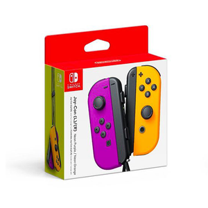 Nintendo Switch Joy-Con Controllers - Neon Purple / Neon Orange + 3 Months Warranty by Nintendo Distributor (Maxsoft)