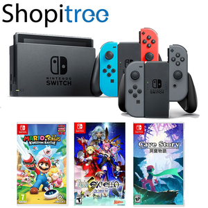 Nintendo Switch Console + Mario & Rabbids Kingdom Battle + Fate / Extella  + Cave Story + 1 Year Local Warranty