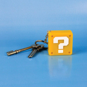 Super Mario Question Block Keychain Light