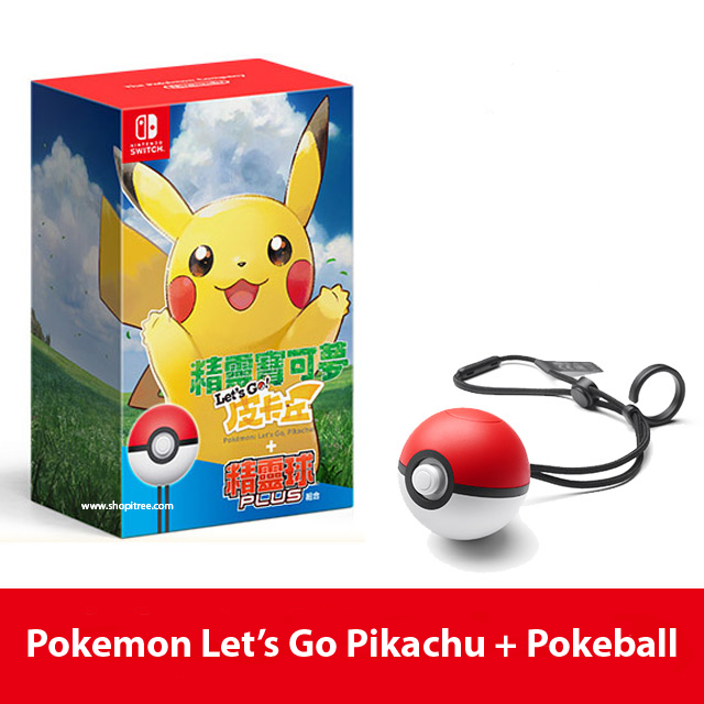 Nintendo Switch Pokemon: Let's Go Pikachu + Pokeball Plus Bundle