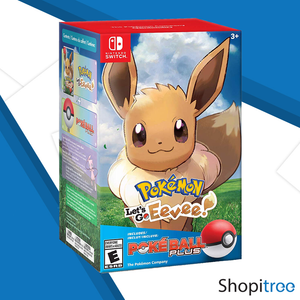 Nintendo Switch Pokemon: Let's Go Eevee + Pokeball Plus Bundle