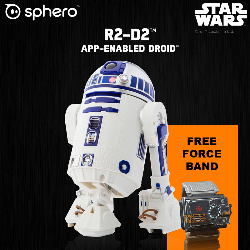 R2-D2 App-Enabled Droid Star Wars Robot Speakers Holographic Simulation LED