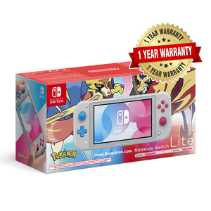 Nintendo Switch Lite Console Pokémon Zacian & Zamazenta Edition + FREE Gift (6 Accessories)