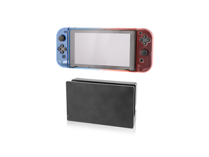 Nyko Thin Case (Neon Blue/Red) for Nintendo Switch +Tempered Glass Screen Protector