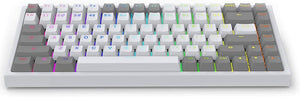 Keycool 84 Keys Hot Swappable Bluetooth Mechanical Keyboard - Race-White