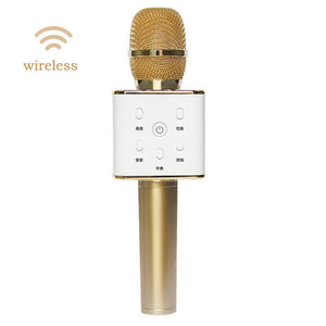 Q7 Portable Wireless Microphone Handheld Condenser Microphone with Speaker TH440