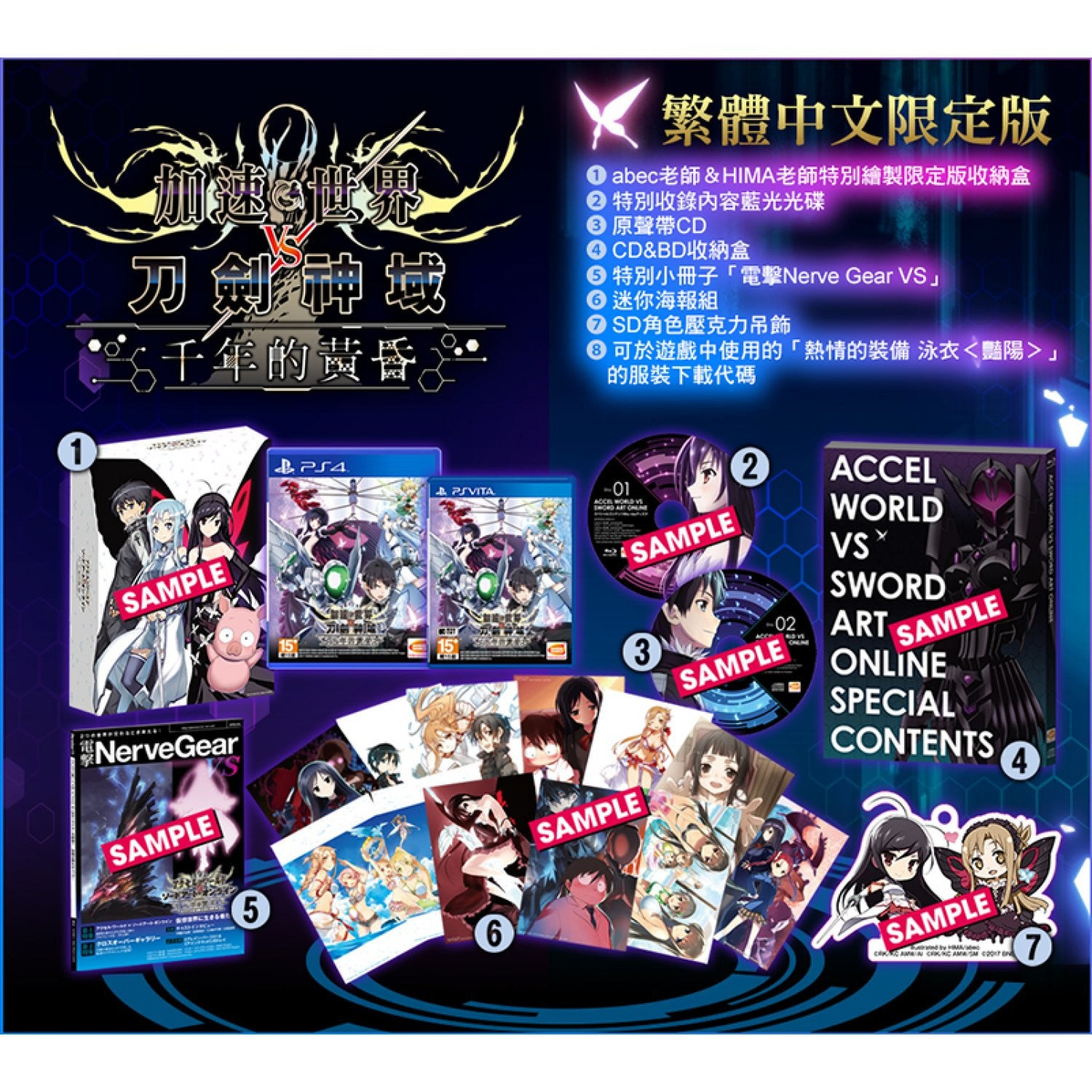 PS4 Accel World Vs. Sword Art Online: Millennium Twilight (Chinese)