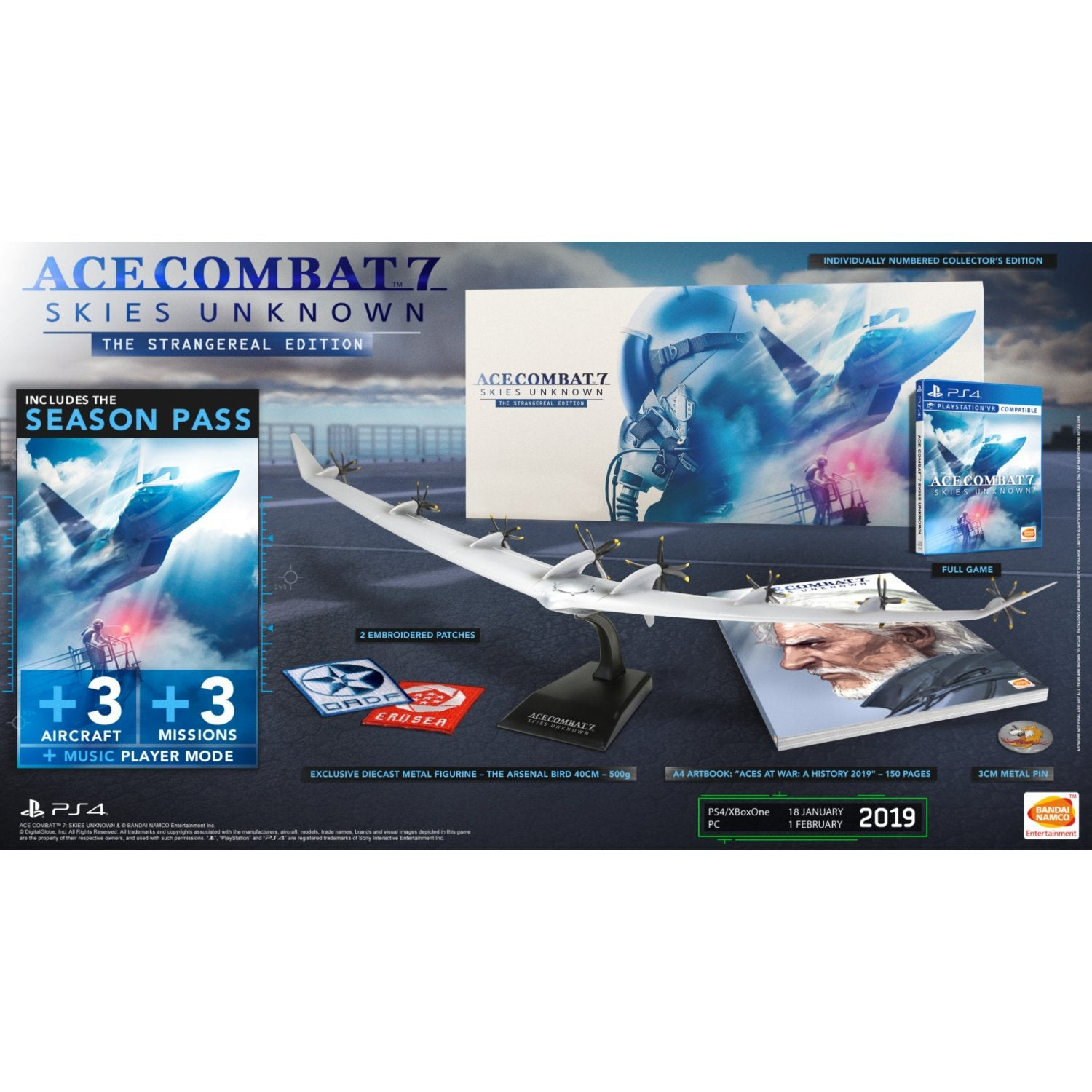 PS4 Ace Combat 7: Skies Unknown The Strangereal Edition (Collector's  Edition])