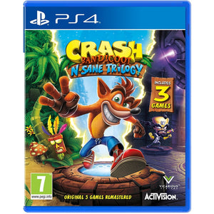 PS4 Crash Bandicoot N. Sane Trilogy w/ Extra 2 Bonus Levels