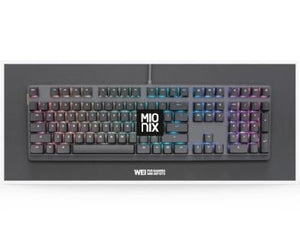 Mionix Wei Mechanical Keyboard - RGB Backlight (Black/Gray)