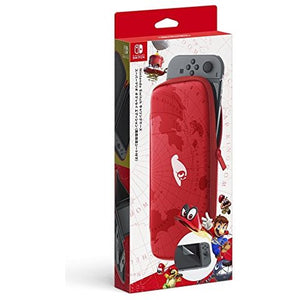Nintendo Switch Carrying Case with Screen Protector (Super Mario Odyssey Edition)