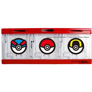 HORI POKEMON MOSTER BALL CARD CASE 6 For 3DS Games