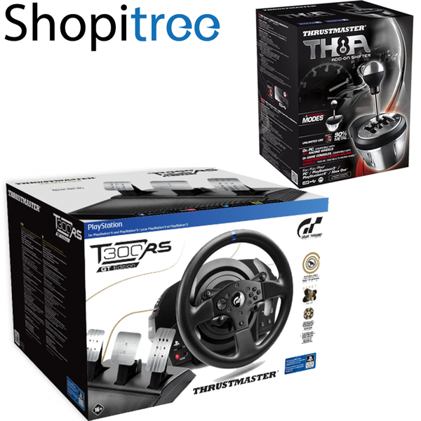 thrustmaster t300rs gt edition steering wheel pedal with th8a add on. Black Bedroom Furniture Sets. Home Design Ideas