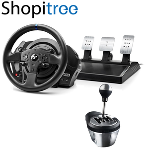 Thrustmaster T300RS GT Edition Steering Wheel + Pedal with TH8A Add-On Gearbox Shifter