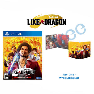 PS4 Yakuza: Like a Dragon Launch Edition with Steel Book
