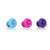 VACUUM WINE STOPPER PINK/BLUE/PURPLE SET OF 3 - ASSORTED - VACU VIN # 08850606