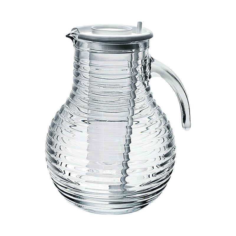 VIVA JUG WITH SOLID WHITE LID - BORMIOLI ROCCO # 1.35800