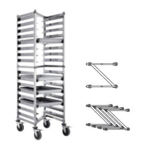(DISMOUNTABLE) Z SHELF HEIGHTENED CAKE CART 32 TRAYS - SILVER - KITCHENWARE # 112113