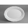 "EMBO 14"" OVAL PLATE - IVORY - EFAY # 119814"