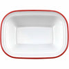 "ENAMEL 8"" RECTANGULAR PIE DISH - RED - EFAY # 2213084"