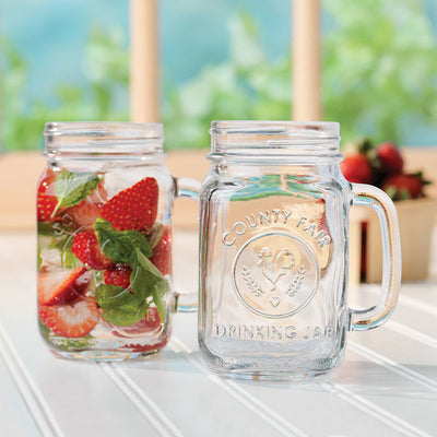 16OZ COUNTY FAIR DRINKING JAR (4 Pieces)