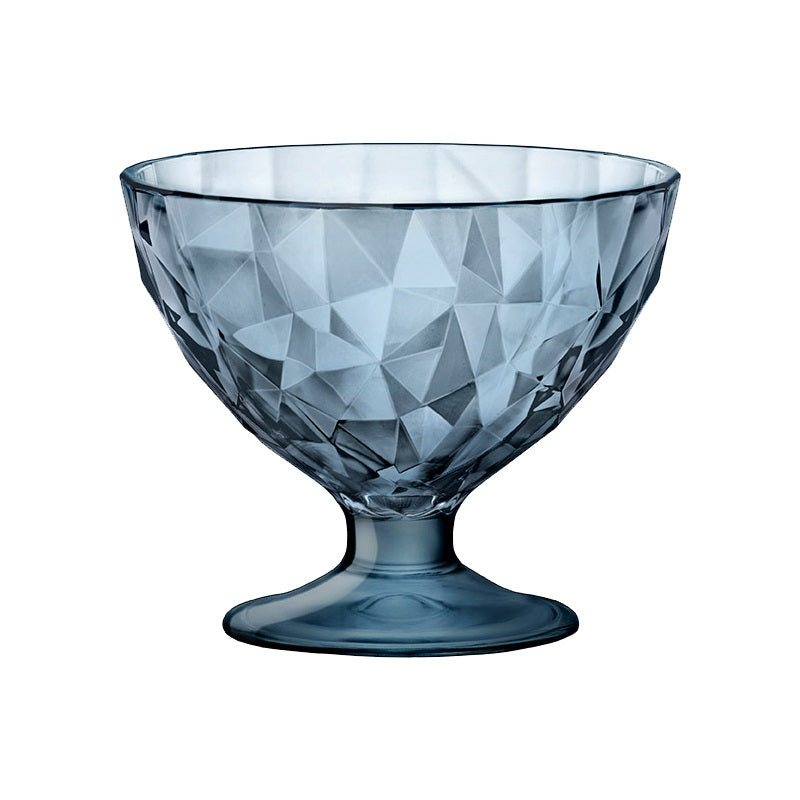 DIAMOND DESSERT BOWL - BLUE - BORMIOLI ROCCO # 3.02254