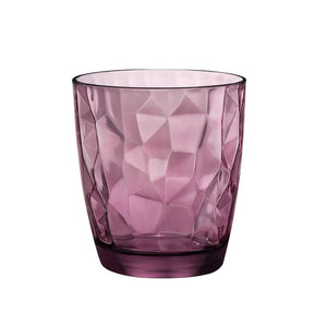 DIAMOND TUMBLER - PURPLE - BORMIOLI ROCCO # 3.50230