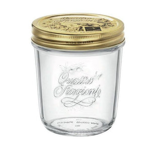 QUATTRO STORAGE JAR WITH GOLD LID - BORMIOLI ROCCO # 3.54757
