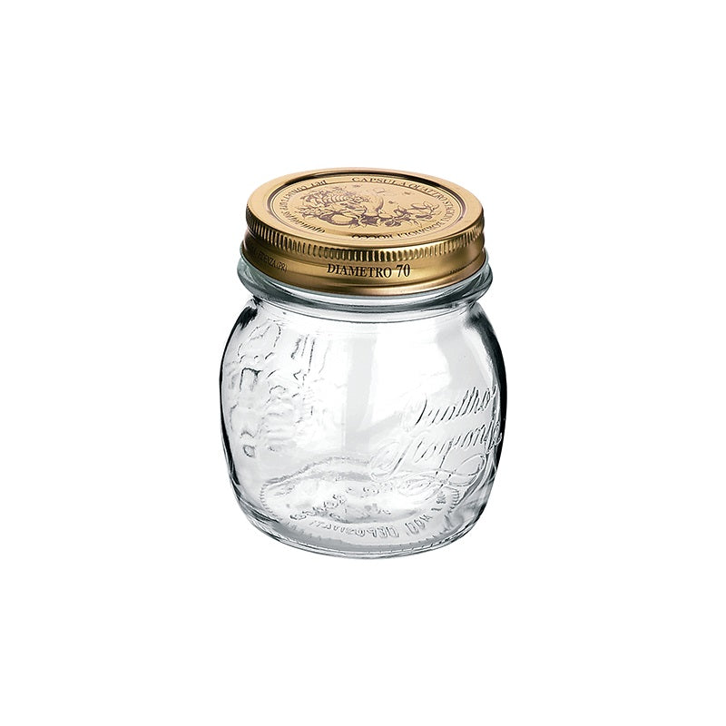 QUATTRO STORAGE JAR WITH GOLD LID - BORMIOLI ROCCO # 3.57750