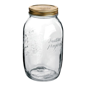 QUATTRO STORAGE JAR WITH GOLD LID - BORMIOLI ROCCO # 3.59920
