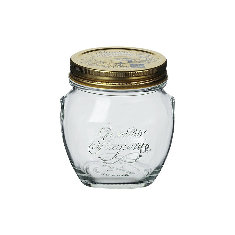 QUATTRO STORAGE JAR WITH GOLD LID - BORMIOLI ROCCO # 3.65610