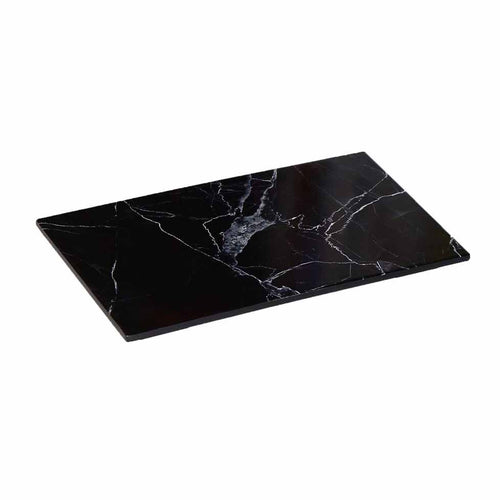 MARBLE 1/3 FOOTED PLATTER - BLACK XEMEIN - EFAY # 3217FBK11