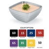 COLORED DOUBLE WALL INSULATED SERVING BOWLS - SQUARE - ASSORTED - VOLLRATH # 47635