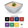 COLORED DOUBLE WALL INSULATED SERVING BOWLS - SQUARE - ASSORTED - VOLLRATH # 47637