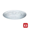 Japanese Restaurants Professional use Glass Round Plate (3 pcs)