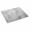 MARBLE 1/1 FOOTED PLATTER - WHITE CARRARA - EFAY # 5332FPW9