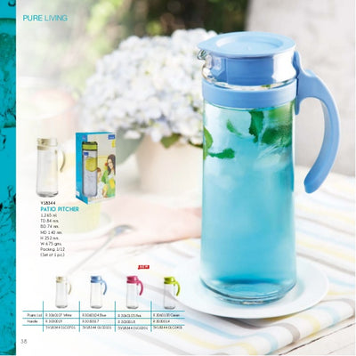 PATIO PITCHER WITH HANDLE (WHITE) - 1660ML (2 PIECES)