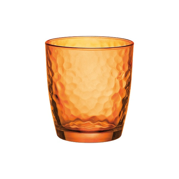PALATINA WATER TUMBLER - ORANGE - BORMIOLI ROCCO # 6.62570.590