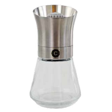 HERBS & SPICES CERAMIC GRINDER WITH STAINLESS STEEL COVER - STAINLESS STEEL - CRUSHGRIND # 60050-3001