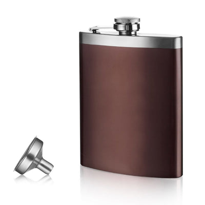 Hip Flask and Funnel Stainless Steel