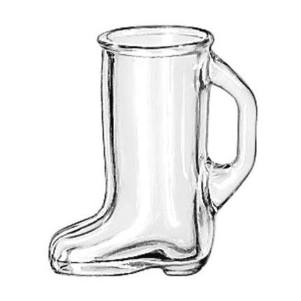 1.1/2 OZ BOOT SHOT PLAIN - LIBBEY # 97038